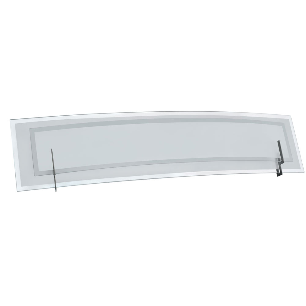 Clear Vanity Light Glass : Dainolite Lighting (V034-3W-SC) 3 Light Vanity Fixture in Satin Chrome with Clear & Frosted Glass
