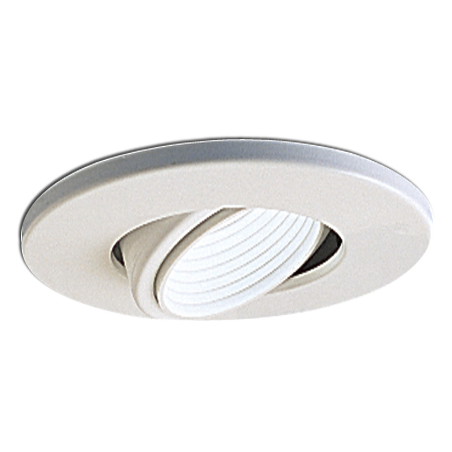 Recessed Lighting Gimbal : Inch recessed trim adjustable gimbal with baffle and