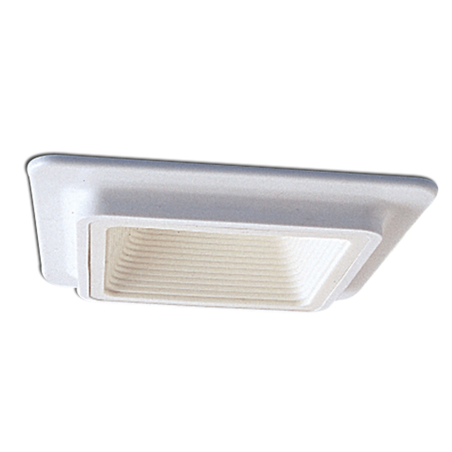4 Inch Recessed Trim Square Plastic White Baffle With