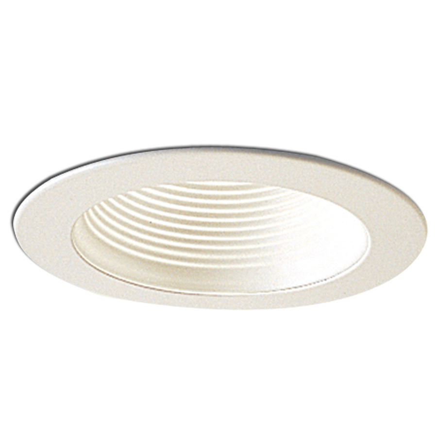4 inch recessed trim stepped baffle with metal ring by Recessed lighting trim