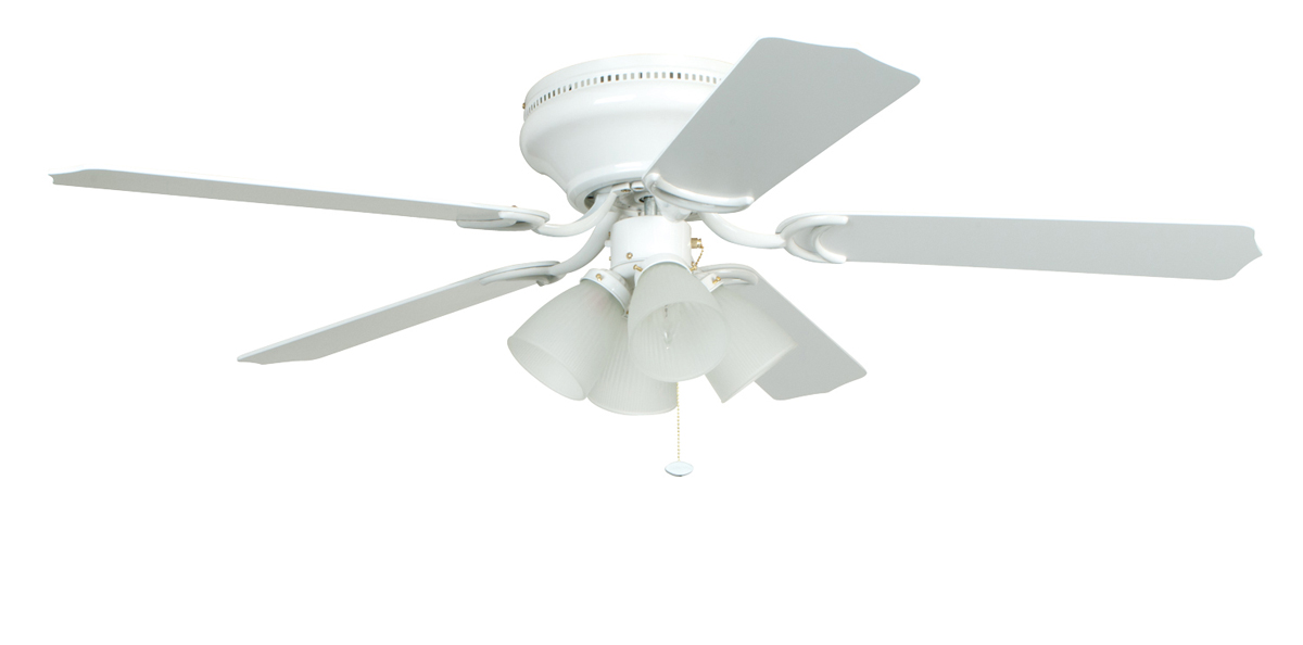 White Ceiling Fan With Light This Item Hunter Dempsey Low Profile