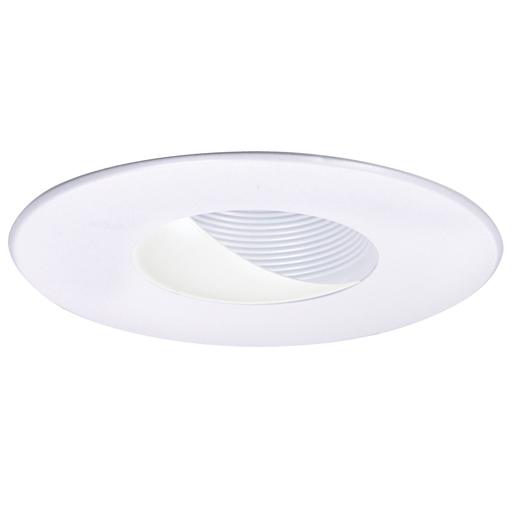 6 Inch Recessed Trim Adjustable Wall Wash with White Baffle, White Ring by Nora Lighting - NL-649