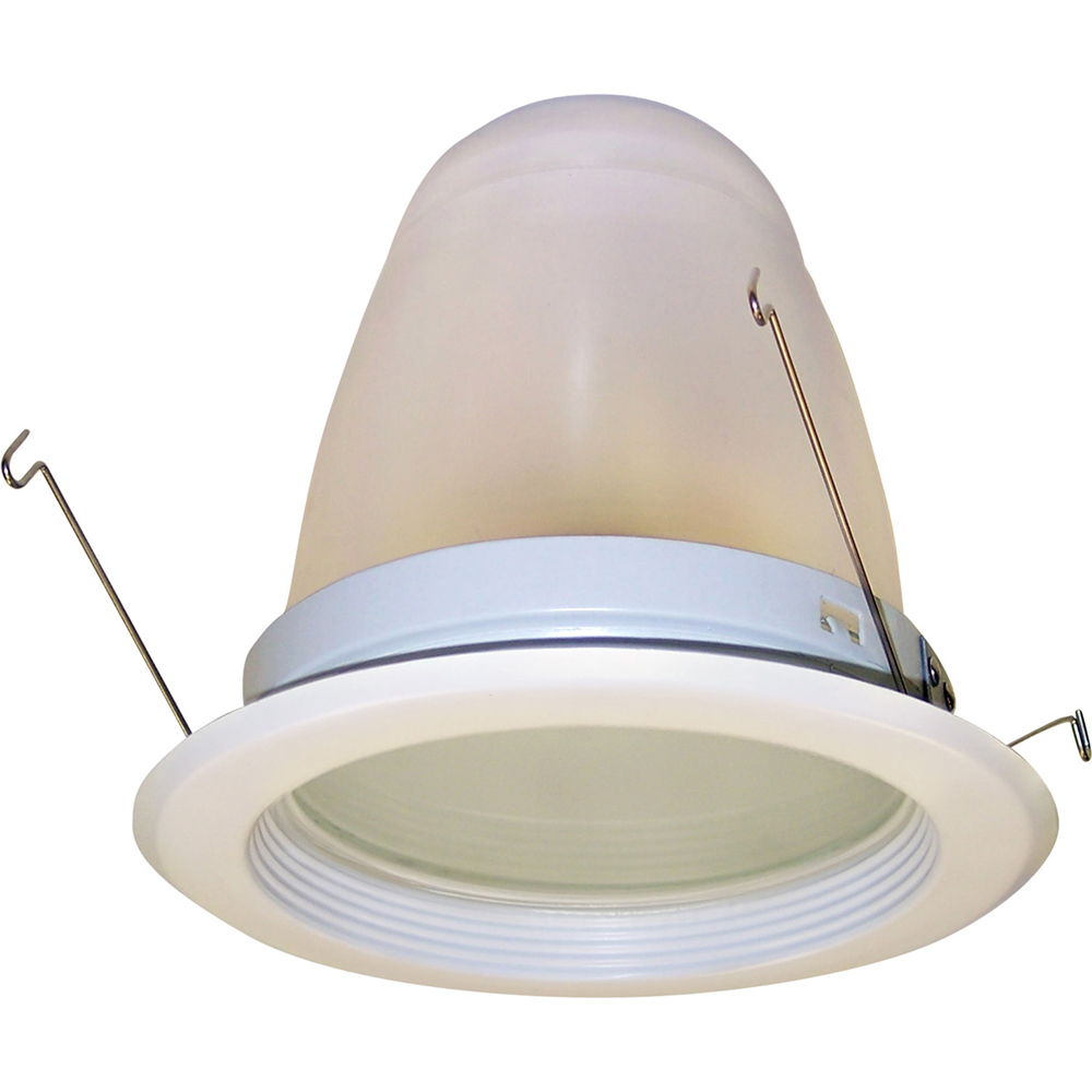 6 Inch Recessed Trim Regressed Frosted Lens Reflector With
