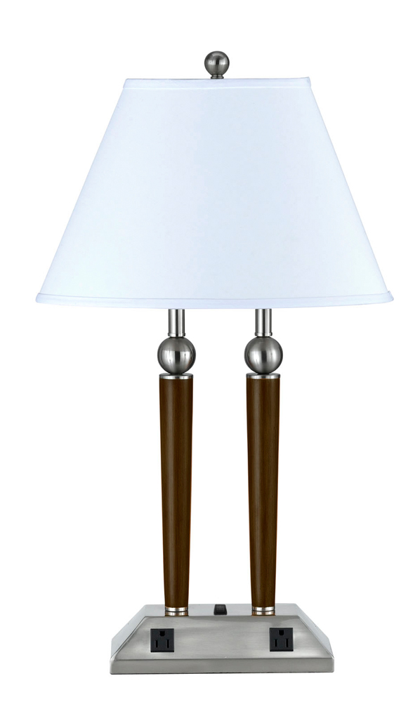 60w x 2 metal desk lamp with 3 way push button base switch and 2 power. Black Bedroom Furniture Sets. Home Design Ideas
