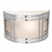 Access Lighting (20301) Poseidon 10.6 Inch Outdoor Wall Sconce shown in Stainless Steel