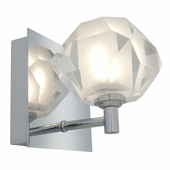 Access Lighting (23910) Glas_e 1-Light Crystal Vanity Fixture shown in Chrome