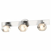Access Lighting (23911) Glas_e 3-Light Crystal Vanity Fixture shown in Chrome