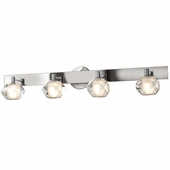Access Lighting (23912) Glas_e 4-Light Crystal Vanity Fixture shown in Chrome