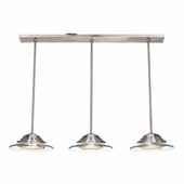 Access Lighting (50443) Phoebe 10 Inch Pendant shown in Brushed Steel