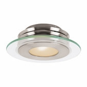 Access Lighting (50480) Helius 12 Inch Flush Mount shown in Brushed Steel