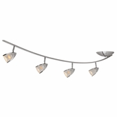 Access Lighting (52035) Comet 4-Light 53.5 Inch Linear Ceiling Mount shown in Brushed Steel