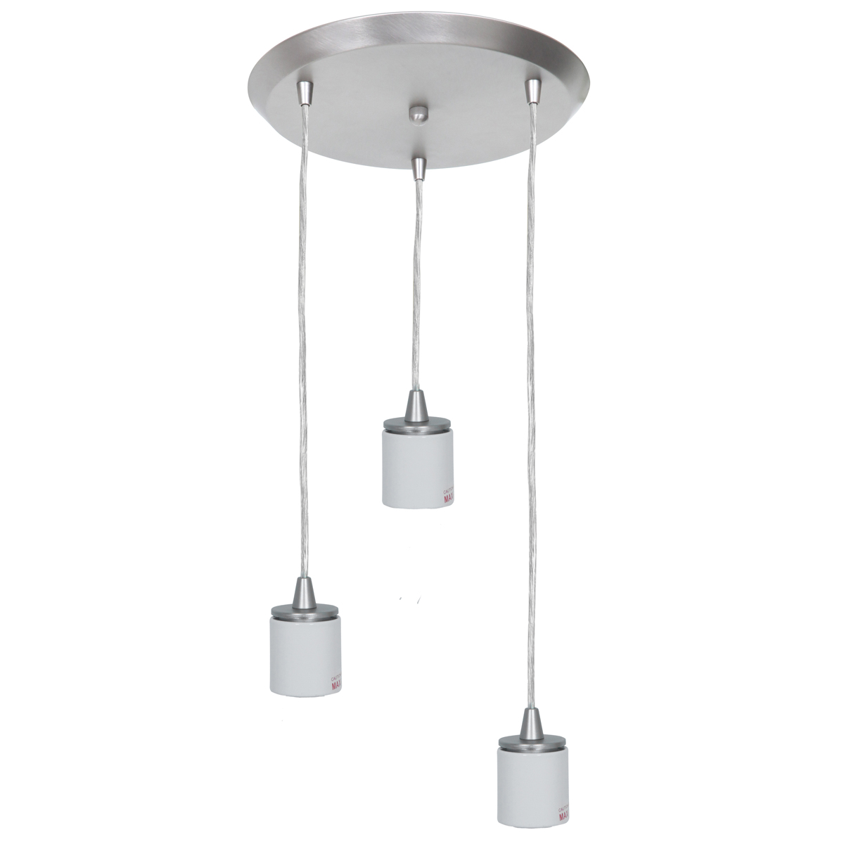 Access Lighting (52230FC) Circ 3-Light 11 Inch Canopy Pendant Assembly shown in Brushed Steel