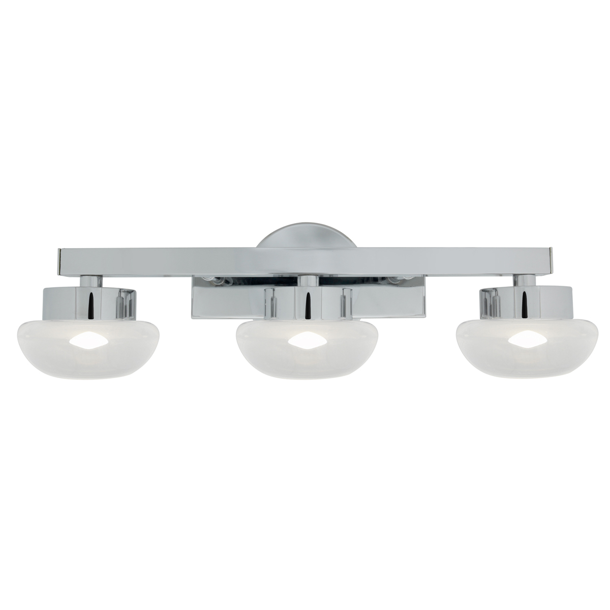 Vanity Led Fixtures : Access Lighting (70043LED) Dewdrop 3-Light LED Vanity Fixture shown in Chrome