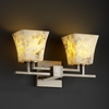Justice Design (ALR-8702) Aero 2-Light Bath Bar from the Alabaster Rocks! Collection
