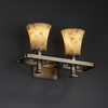Justice Design (ALR-8562) Arcadia 2-Light Bath Bar from the Alabaster Rocks! Collection