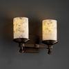 Justice Design (ALR-8532) Deco 2-Light Bath Bar from the Alabaster Rocks! Collection