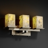 Justice Design (ALR-8673) Montana 3-Light Bath Bar from the Alabaster Rocks! Collection