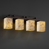 Justice Design (ALR-8674) Montana 4-Light Bath Bar from the Alabaster Rocks! Collection