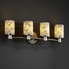 Justice Design (ALR-8514) Rondo 4-Light Bath Bar from the Alabaster Rocks! Collection