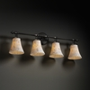 Justice Design (ALR-8524) Tradition 4-Light Bath Bar from the Alabaster Rocks! Collection