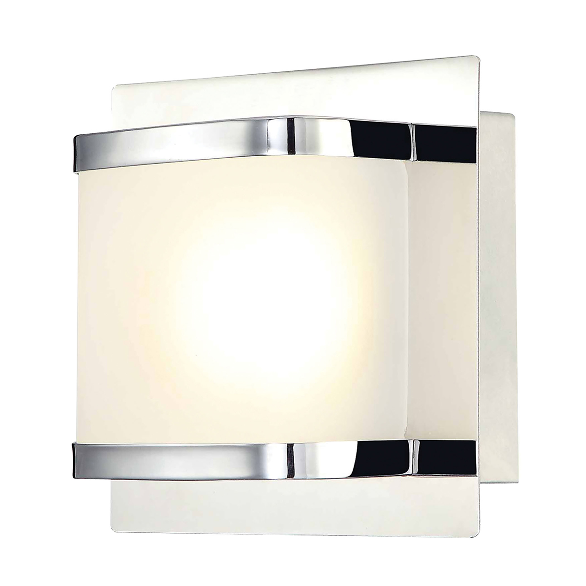 Vanity Led Fixtures : Alico Lighting (BVL4001-10-15) Bandeau 1 Light LED Vanity Fixture in Chrome