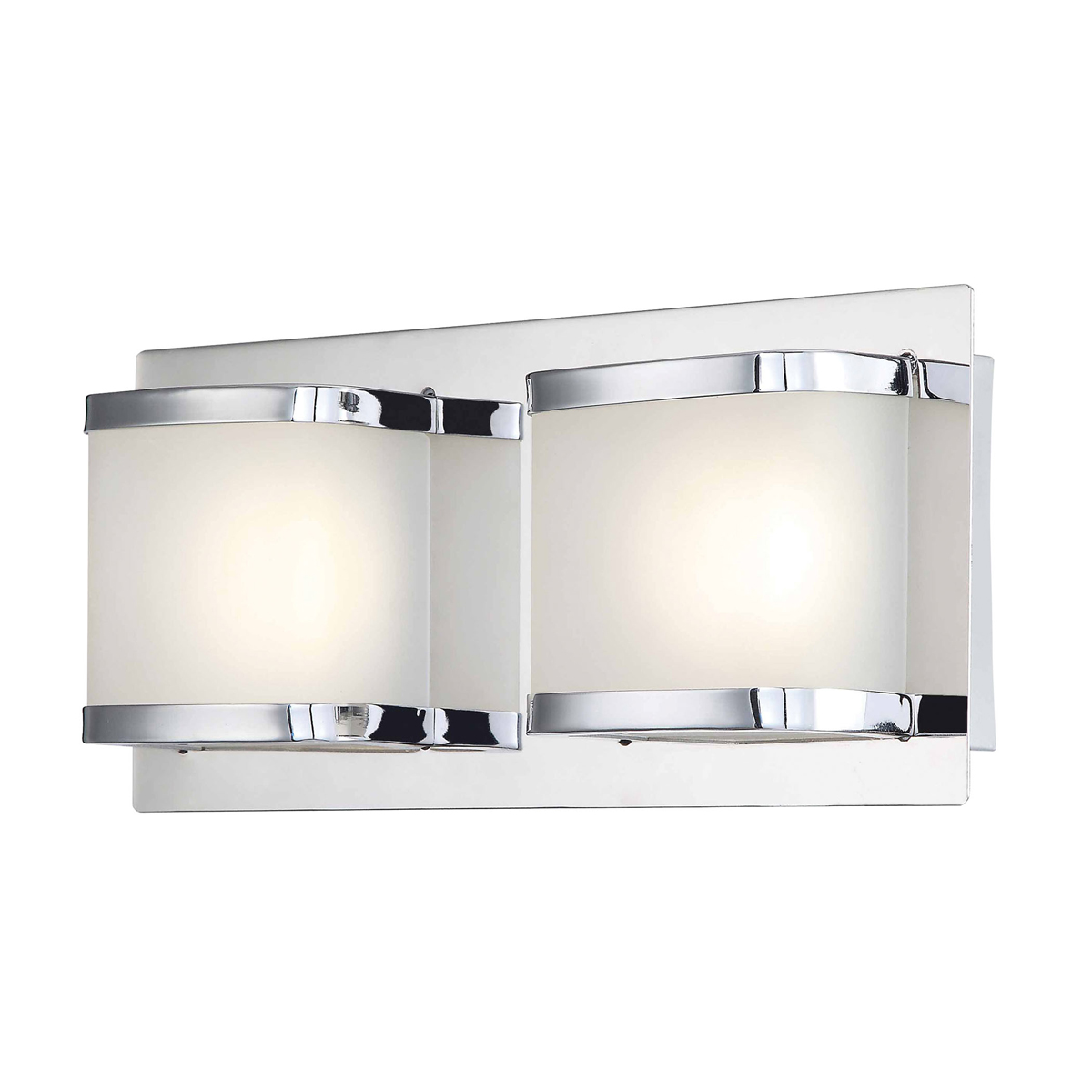 alico lighting bvl4002 10 15 bandeau 2 light led vanity fixture in chrome. Black Bedroom Furniture Sets. Home Design Ideas