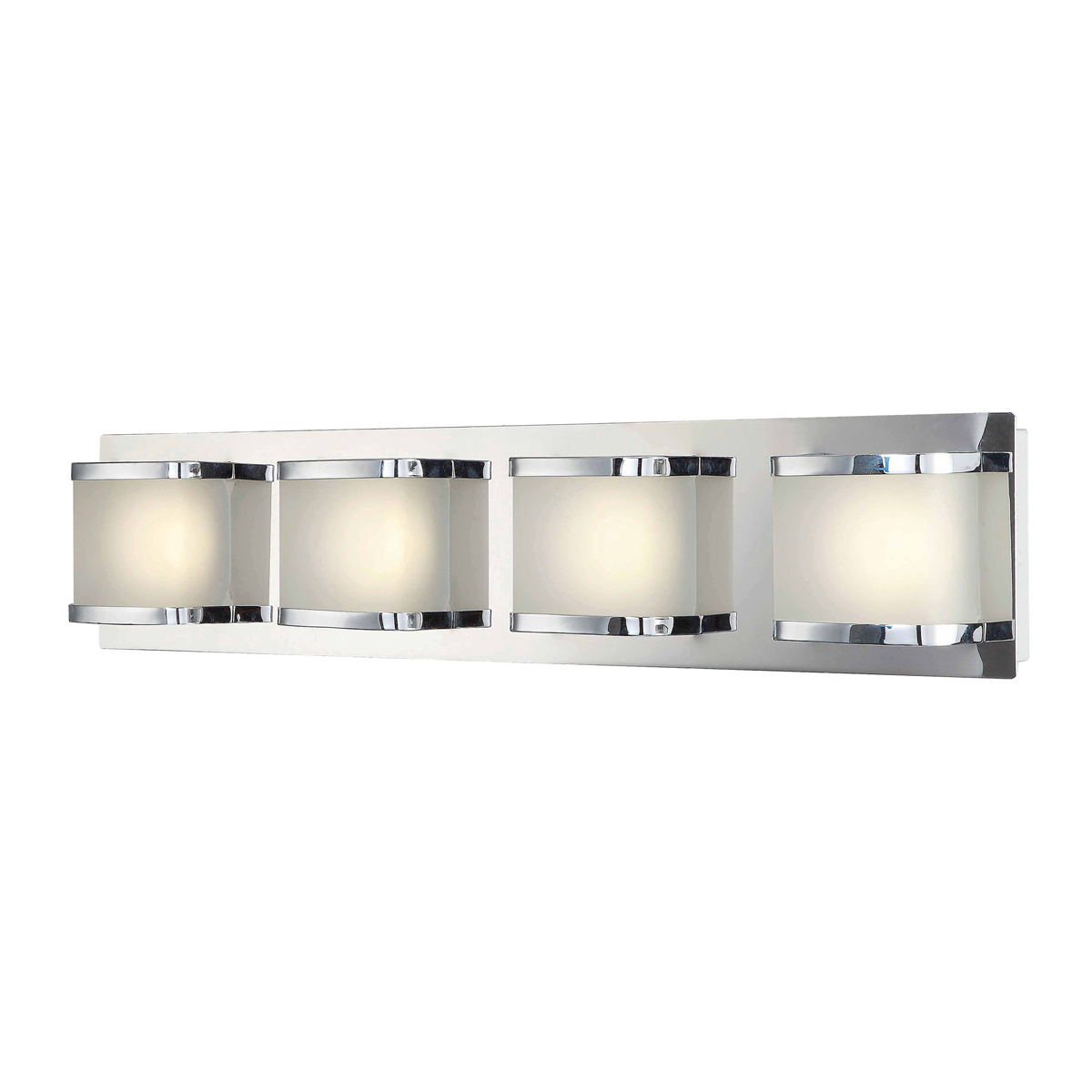 Vanity Led Fixtures : Alico Lighting (BVL4004-10-15) Bandeau 4 Light LED Vanity Fixture in Chrome