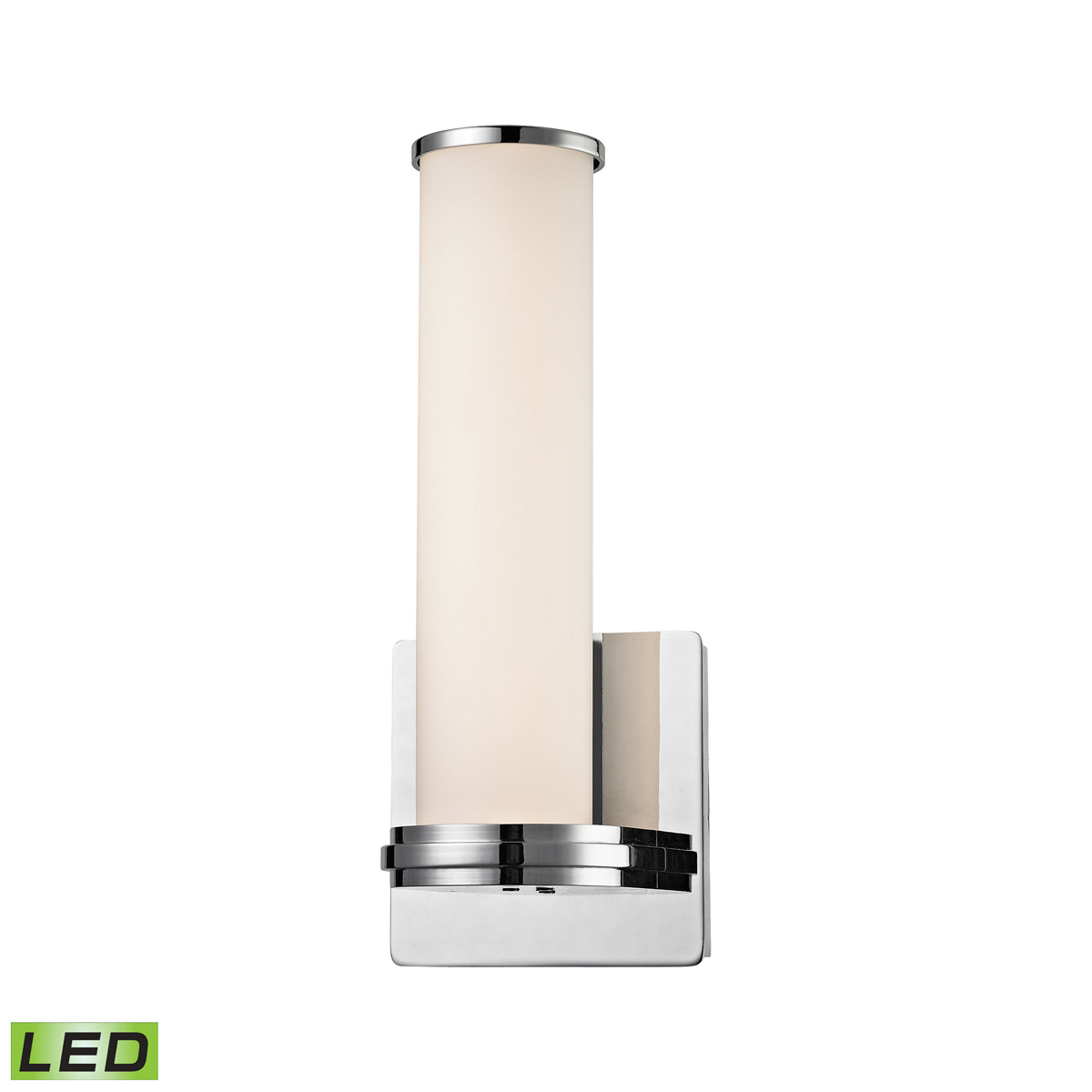 Alico Lighting (WSL1301-10-15) Baton 1 Light LED Wall Sconce in Chrome & White Opal Glass