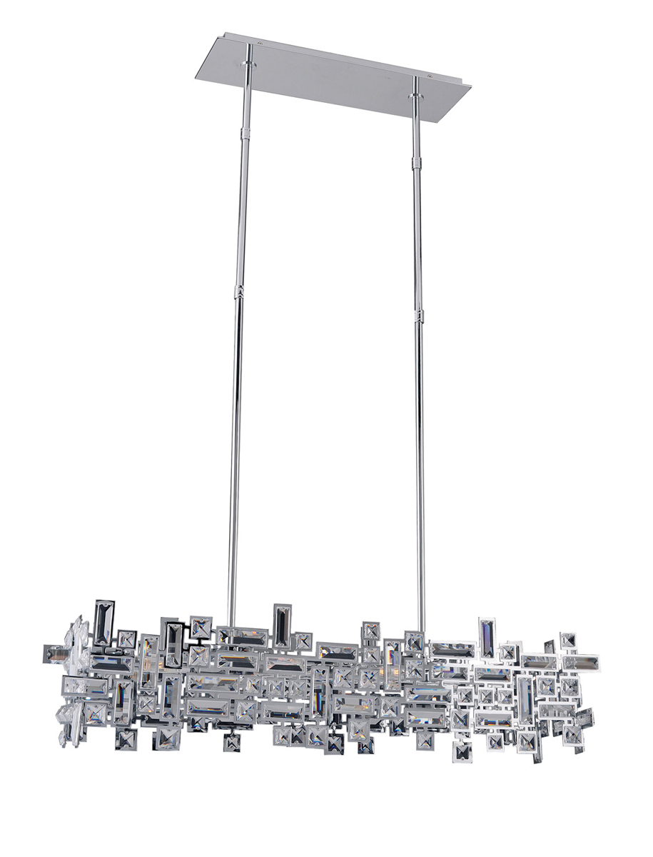 Crystal Lighting (11198) Vermeer 6 Light Island Fixture shown in ...