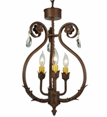 2nd Avenue Lighting (01.0986.12.X.MOD) Antonia Chandelier shown in Antique Rust Finish