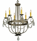2nd Avenue Lighting (221542.2.X) Antonia 6 Light Chandelier shown in Corinth Finish