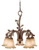 Vaxcel Lighitng (AS-CHD005) Aspen 5 Light Chandelier