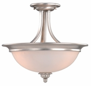 "Vaxcel Lighitng (AL-CFU150) Avalon 15"" Semi-Flush Mount (Dual Mount)"