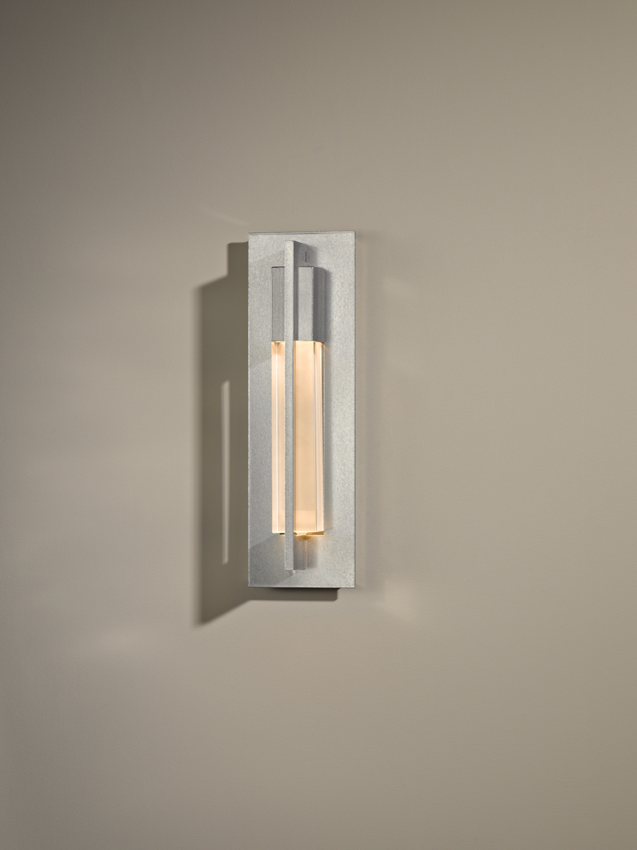 Hubbardton Forge (206420) 1 Light Axis Small Wall Sconce shown in Vintage Platinum Finish