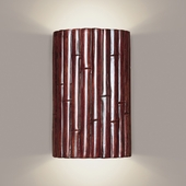 Bamboo Wall Sconce 1 Light Fixture shown in Cinnamon by A19 Lighting