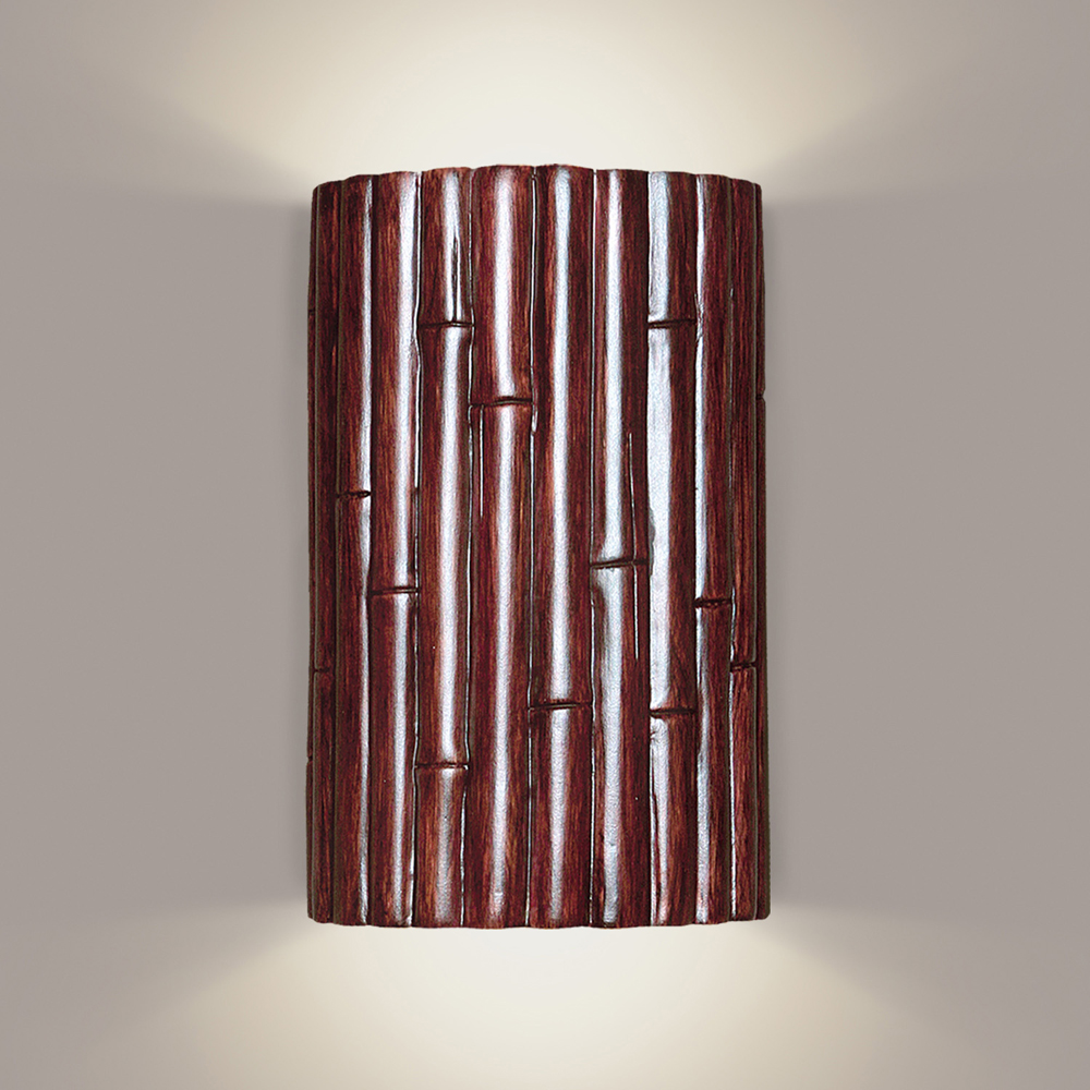 bamboo wall sconce 1 light fixture shown in cinnamona19