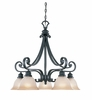 Designers Fountain (96185-NI) Barcelona 5 Light Down Chandelier in Natural Iron