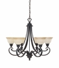 Designers Fountain (96186-NI) Barcelona 6 Light Chandelier in Natural Iron