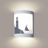 Bay Harbor Wall Sconce 1 Light Fixture shown in White Satin by A19 Lighting