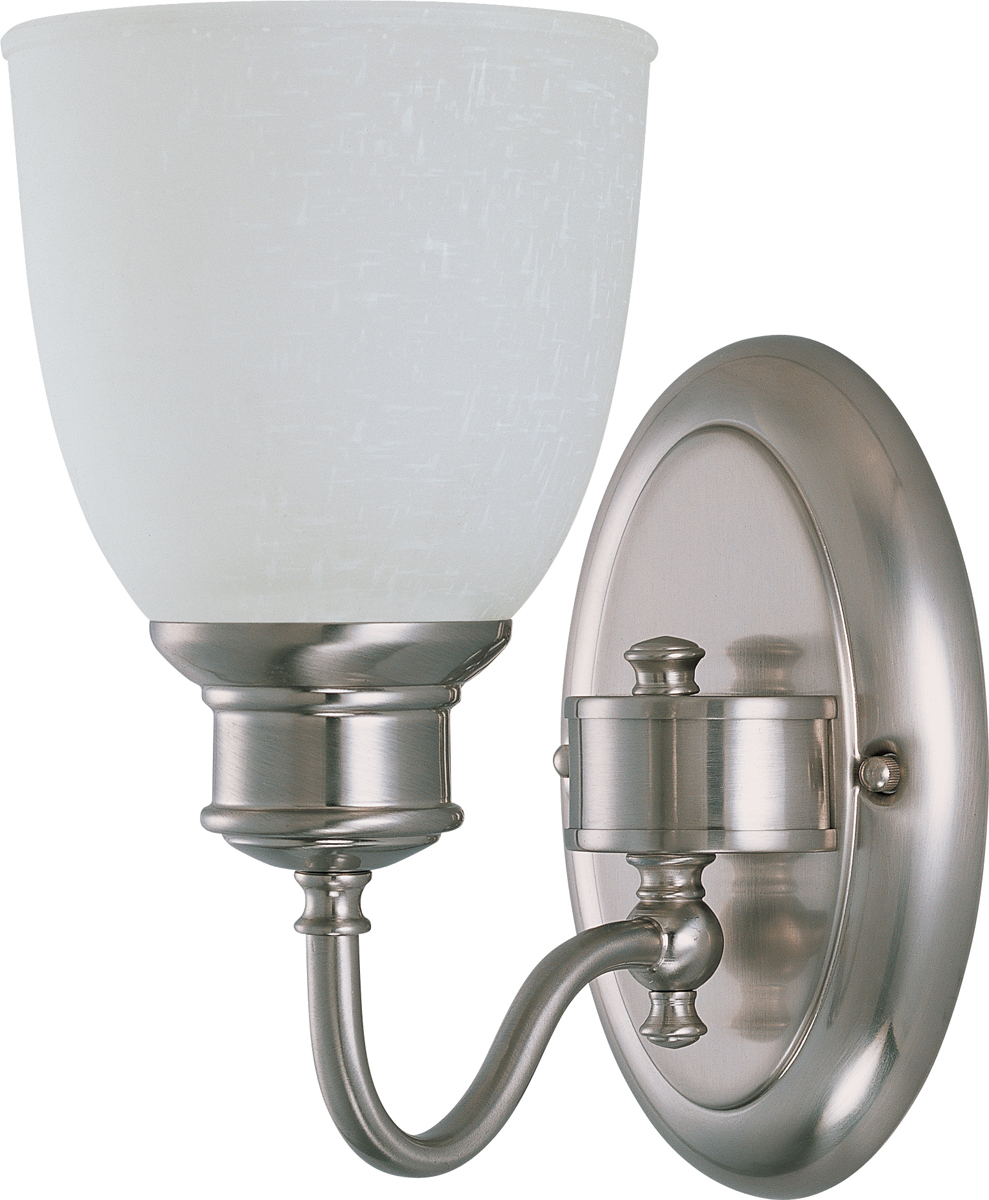 Glass Vial Vanity Light : Nuvo Lighting (60-2795) Bella 1 Light Vanity Fixture