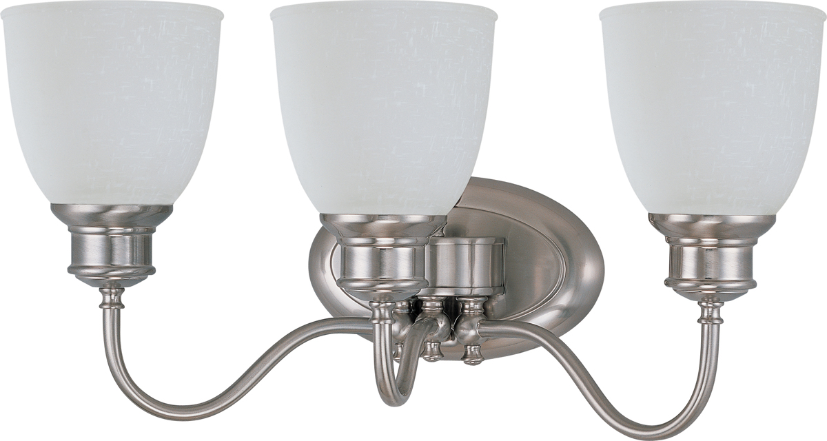 Glass Vial Vanity Light : Nuvo Lighting (60-2799) Bella 3 Light Vanity Fixture