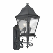 Artistic Lighting (5310-C) Outdoor Wall Lantern Belmont Collection in Charcoal Finish