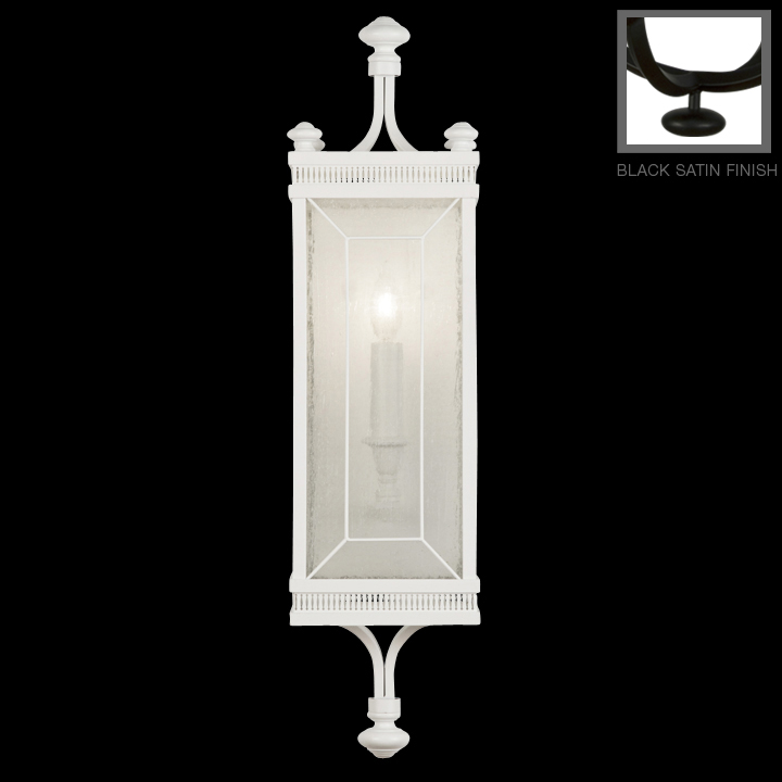 Black Lacquer Wall Sconces : Fine Art Lamps (808150) Black + White Story 1-Light Wall Sconce