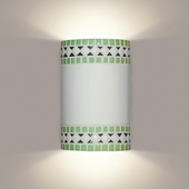 Borders Wall Sconce 1 Light Fixture shown in Mint Green by A19 Lighting