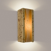 Bubbly Wall Sconce 1 Light Fixture shown in Sandstorm and Caramel by A19 Lighting