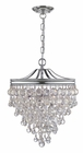 Crystorama (130-CH) Calypso 3 Light Chrome Pendant