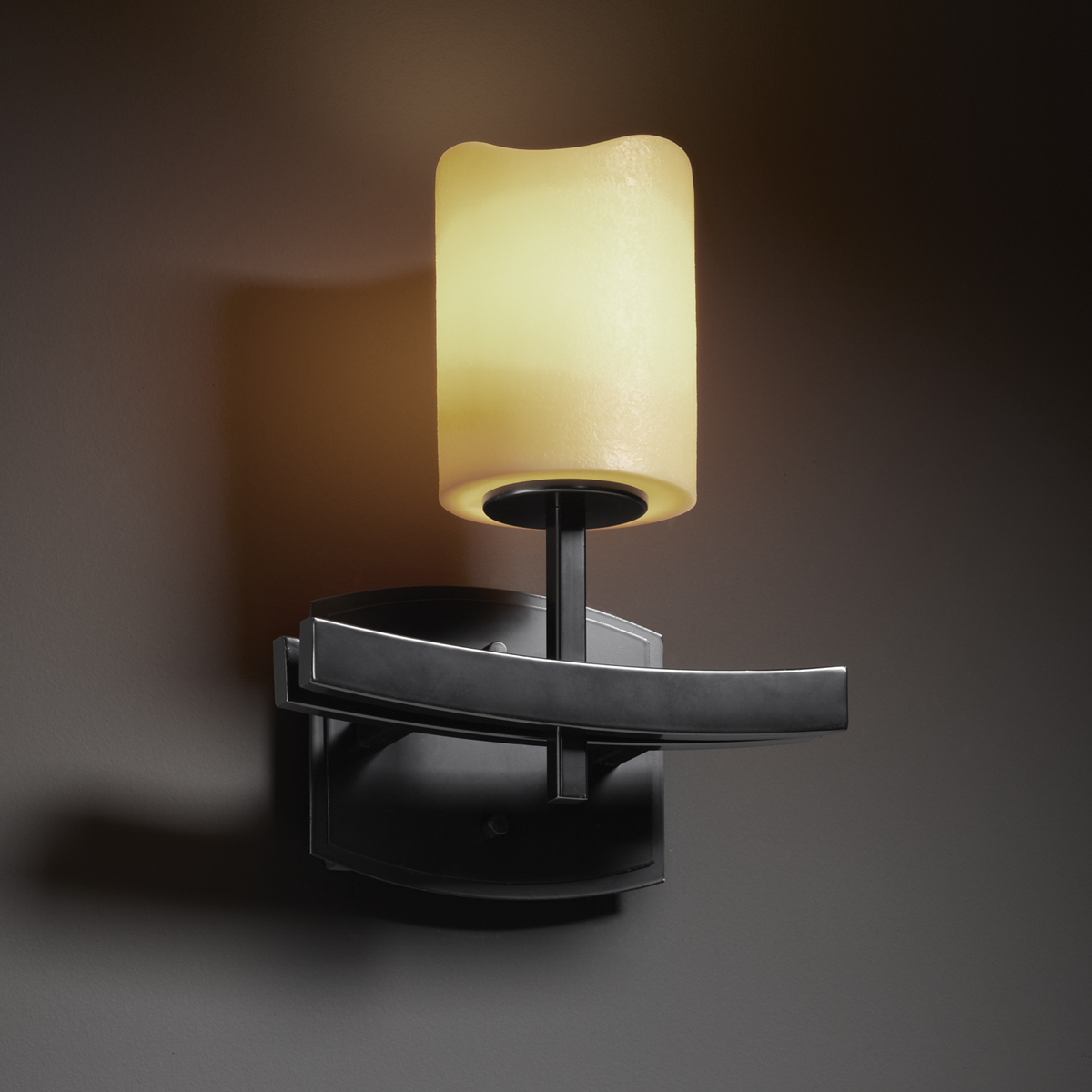 Justice Design Outdoor Wall Sconces : Justice Design (CNDL-8591) Archway 1-Light Wall Sconce from the CandleAria Collection