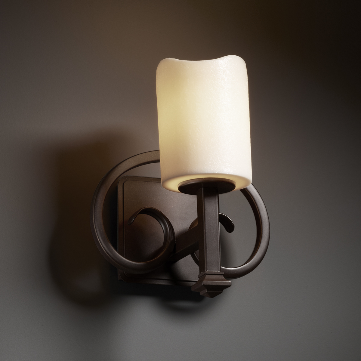Justice Design Wall Sconces : Justice Design (CNDL-8581) Heritage 1-Light Wall Sconce from the CandleAria Collection