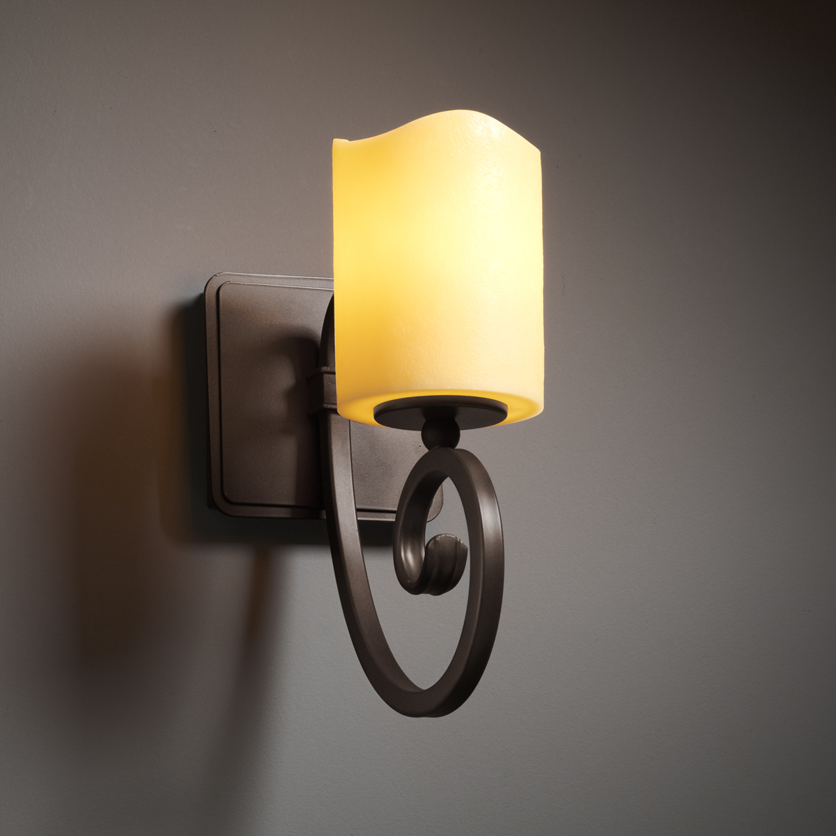 Justice Design (CNDL-8571) Victoria 1-Light Wall Sconce from the CandleAria Collection