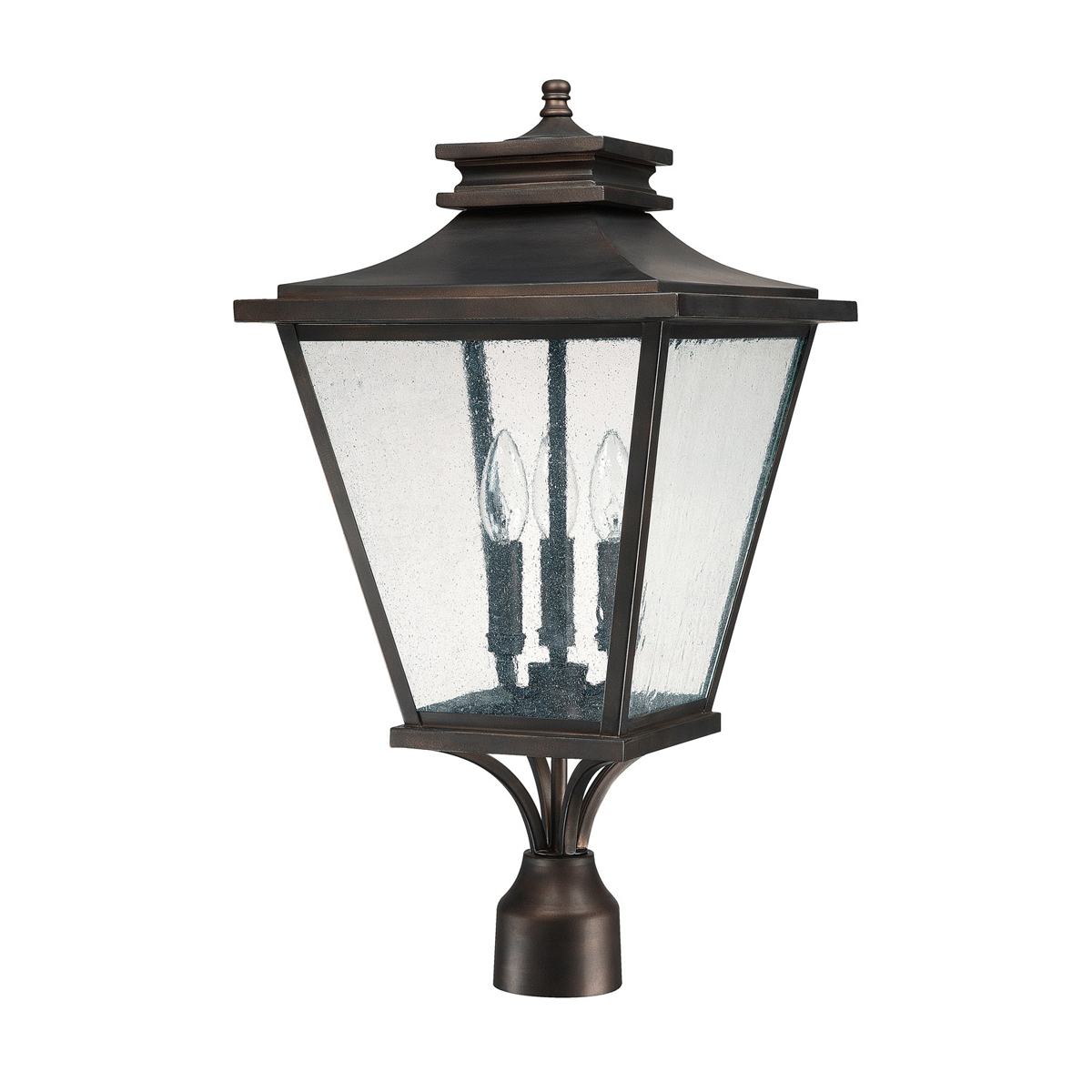 Capital lighting 9466 gentry 3 light outdoor post lantern for Outdoor light post fixtures